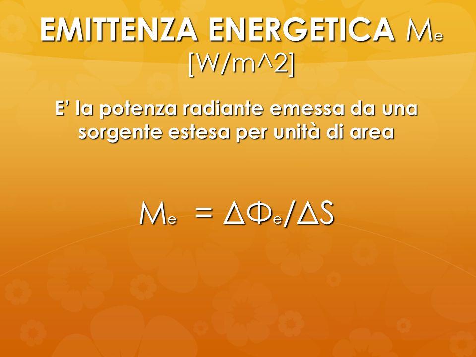 EMITTENZA ENERGETICA Me [W/m^2]